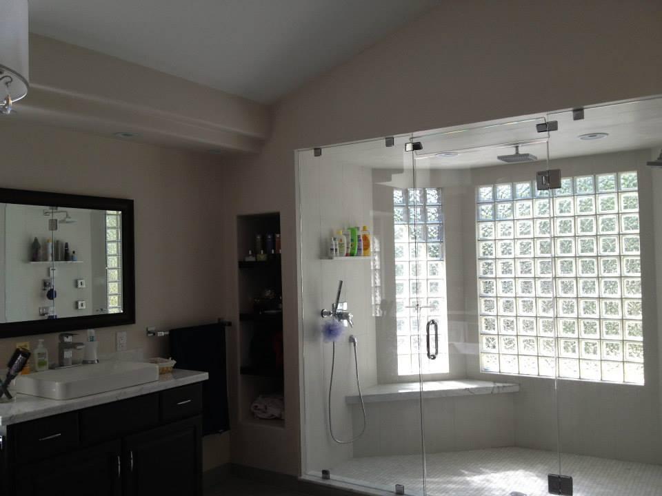 remodeled master bathroom shower