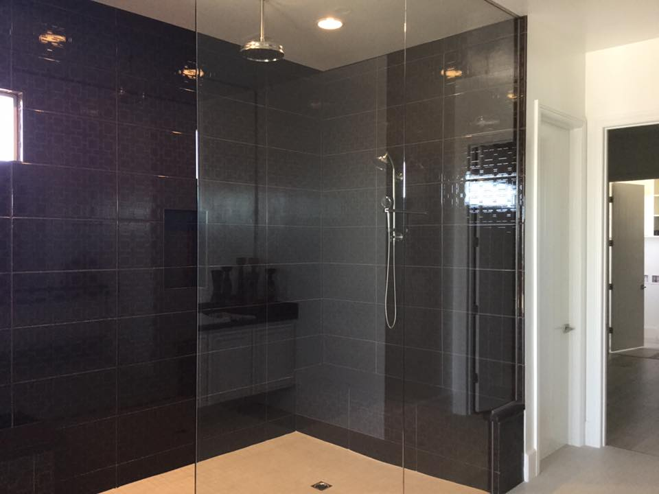 remodeled master bathroom shower