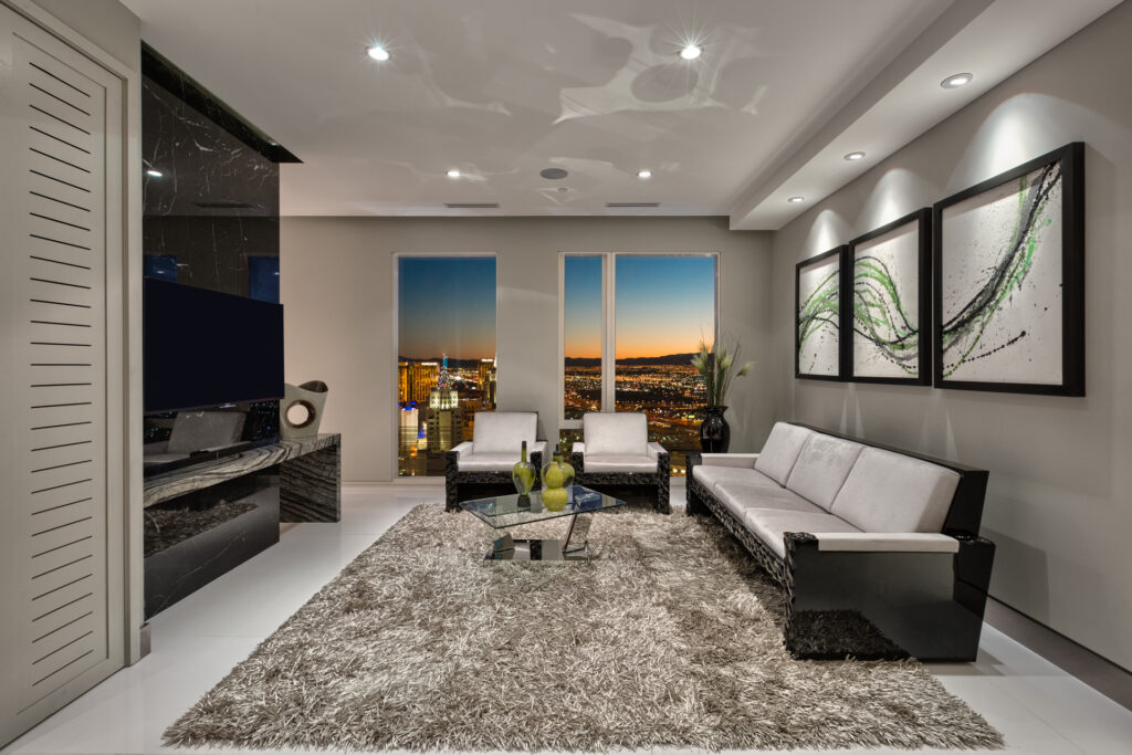 Picture of a modern living room.